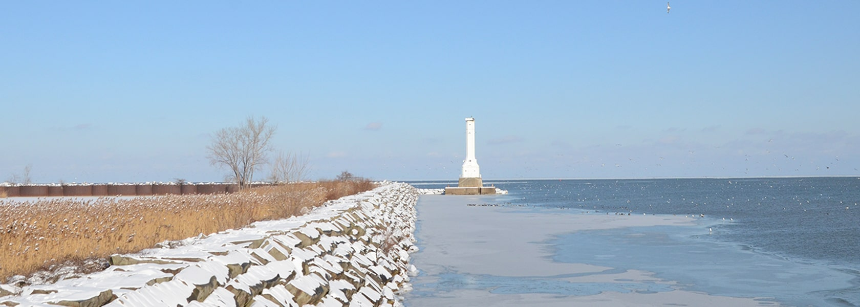 Huron Lighthouse and Fishing Pier